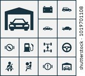 auto icons set with repair ... | Shutterstock . vector #1019701108