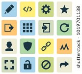 user icons set with apps ... | Shutterstock . vector #1019701138