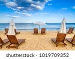 coastal landscape   beach... | Shutterstock . vector #1019709352