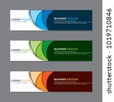 modern banner background vector ... | Shutterstock .eps vector #1019710846