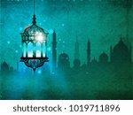 ramadan kareem eid mubarak... | Shutterstock . vector #1019711896