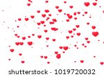 red and pink heart. valentine's ... | Shutterstock . vector #1019720032