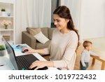 motherhood  multi tasking ... | Shutterstock . vector #1019722432