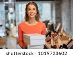 sale  shopping and people... | Shutterstock . vector #1019723602