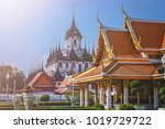 grand palace complex in bangkok ... | Shutterstock . vector #1019729722