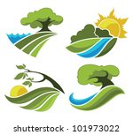 Country Landscape  Vector...