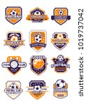 football sport club shield... | Shutterstock .eps vector #1019737042