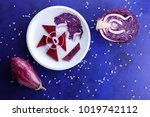 purple cabbage  onions and...