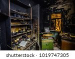 burnt house interior. burned... | Shutterstock . vector #1019747305
