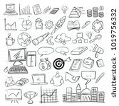 vector illustration of business ... | Shutterstock .eps vector #1019756332