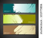 paint brush banner colorful... | Shutterstock .eps vector #101975806