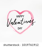happy valentines day typography ... | Shutterstock .eps vector #1019761912