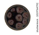 top view of an open can of dark ... | Shutterstock . vector #1019764792