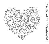 valentine s day vector doodle... | Shutterstock .eps vector #1019768752