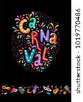 vector hand drawn carnaval...   Shutterstock .eps vector #1019770486