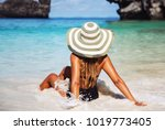 summer lifestyle portrait of...   Shutterstock . vector #1019773405