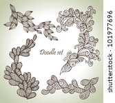 doodle set. hand drawn abstract ... | Shutterstock .eps vector #101977696