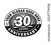 30 years anniversary....   Shutterstock .eps vector #1019779438