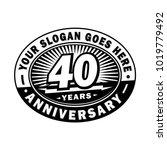 40 years anniversary.... | Shutterstock .eps vector #1019779492
