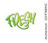 lettering fresh in green colors.... | Shutterstock .eps vector #1019788942