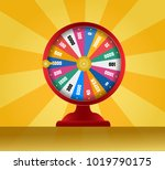 spinning fortune wheel  lucky... | Shutterstock .eps vector #1019790175