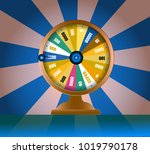 spinning fortune wheel  lucky... | Shutterstock .eps vector #1019790178