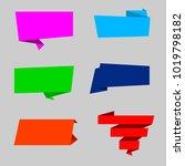 origami ribbons vector | Shutterstock .eps vector #1019798182