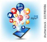 conceptual social networking... | Shutterstock .eps vector #101980486