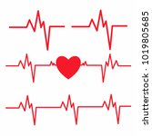 Heartbeat Line Isolated On...
