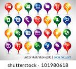 stylish conceptual social... | Shutterstock .eps vector #101980618