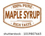 maple syrup grunge rubber stamp ... | Shutterstock .eps vector #1019807665