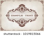 vintage frame with beautiful... | Shutterstock .eps vector #1019815066