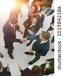 handshake business partners... | Shutterstock . vector #1019842186