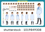 front  side  back view animated ... | Shutterstock .eps vector #1019849308