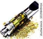 vaping  marijuana cannabis vape ... | Shutterstock . vector #1019849416