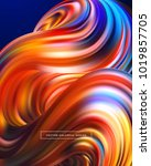 3d abstract colorful fluid... | Shutterstock .eps vector #1019857705