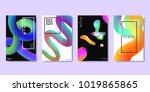 vector set of realistic... | Shutterstock .eps vector #1019865865