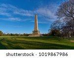 wellington monument obelisk ... | Shutterstock . vector #1019867986