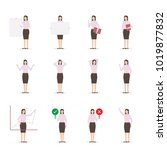 office business woman character ... | Shutterstock .eps vector #1019877832