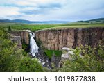 rushing waters of north clear... | Shutterstock . vector #1019877838