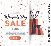 international women's day sale... | Shutterstock .eps vector #1019892652