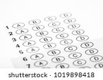 multiple choice exam bubble... | Shutterstock . vector #1019898418