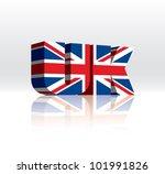 3d vector uk word text flag   Shutterstock .eps vector #101991826