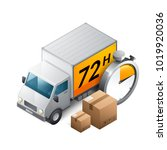 delivery truck icon | Shutterstock .eps vector #1019920036