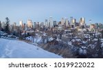 calgary downtown skyline at... | Shutterstock . vector #1019922022