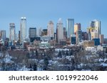 calgary downtown skyline at... | Shutterstock . vector #1019922046