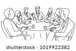 smart businesswoman as... | Shutterstock .eps vector #1019922382