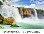 the dray nur waterfall on the...   Shutterstock . vector #1019923882