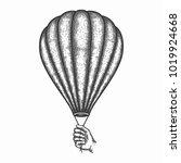 hand drawn air balloon vector ... | Shutterstock .eps vector #1019924668