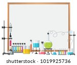 border template with science... | Shutterstock .eps vector #1019925736